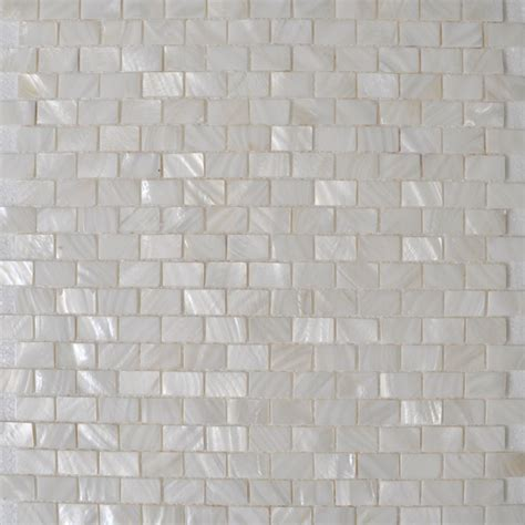 White Of Pearl Subway Tile by Of Pearl Shell Sheet White Seashell Mosaic Subway