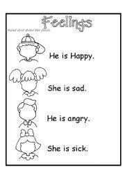 english worksheet feelings