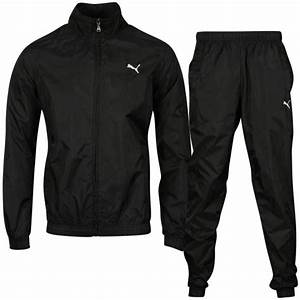 Puma Men's Woven Tracksuit - Black Sports & Leisure