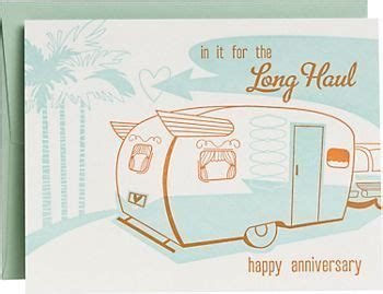 long haul rv anniversary card  images anniversary