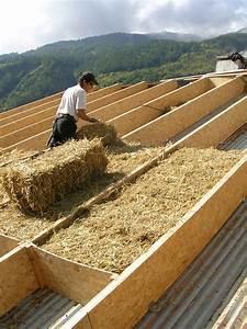 Toit En Paille : isolation en sur toiture en paille pelvoux de ossature ~ Premium-room.com Idées de Décoration