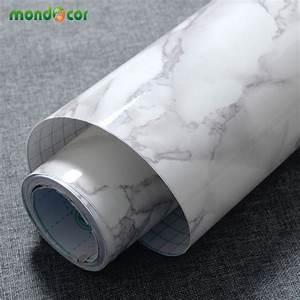 3M/5M/10M Marble Waterproof Vinyl Self adhesive Wallpaper ...