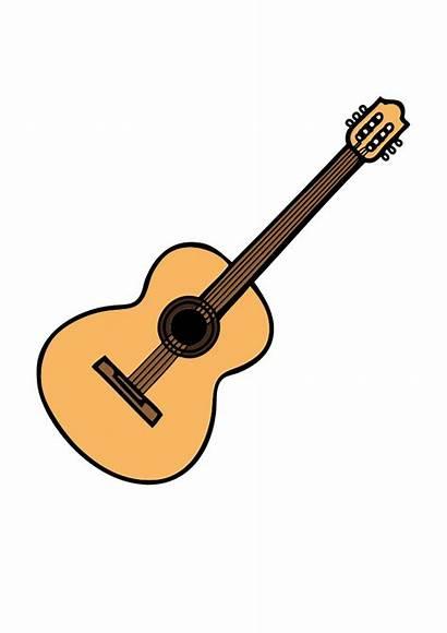 Guitar Guitarra Acustica Clip Dibujo Svg Onlinelabels