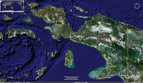 papua island photo satelite