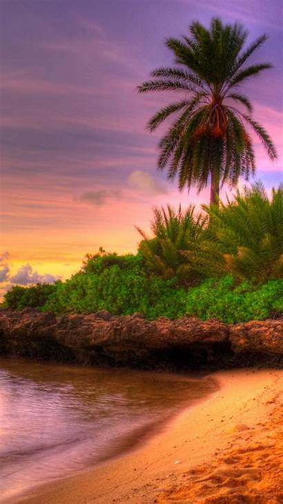 Tropical Iphone Sunset Island Wallpapers Nature Paradise