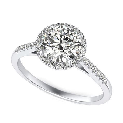 classic accented halo engagement ring