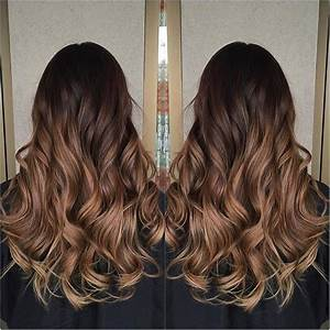 Dip Dye Hair Light Brown Colour Melt Dark Chocolate To Caramel Hair Color