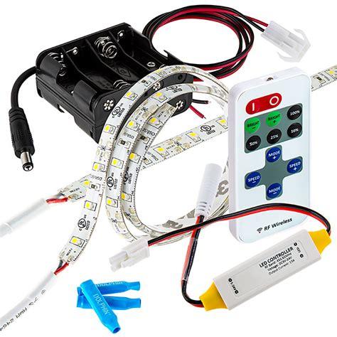 led video light kit battery powered led light strips kit single color 2