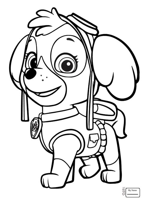 Paw Patrol Everest Coloring Page at GetColorings com