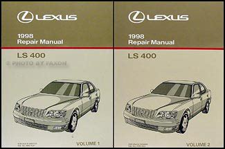 auto repair manual online 1989 lexus ls navigation system 1998 lexus ls 400 repair shop manual original 2 volume set