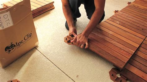how to install deck tiles concrete