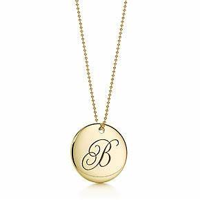 honey With tiffany letter b necklace