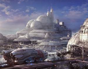 Futuristic City. Concept spaceship environments by Stefan ...