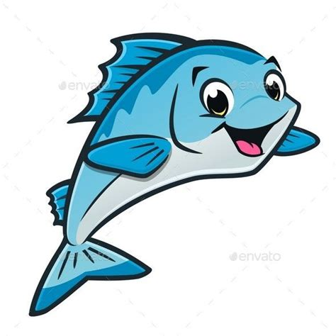 cartoon fish animals characters vector cartoon fish