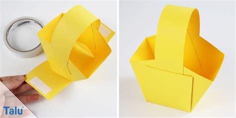 Osterkörbchen Aus Papier Basteln by Osterkorb Hschen Einfache Bastelvorlage Fr Kinder Origami