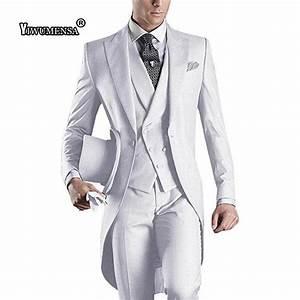 Costume Mariage Homme Gris : acheter y530 costume mariage homme hommes tailedo tailcoat costume en gris costume veste gilet ~ Mglfilm.com Idées de Décoration