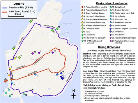 Students Create Peaks Island Bike Map - The West End News