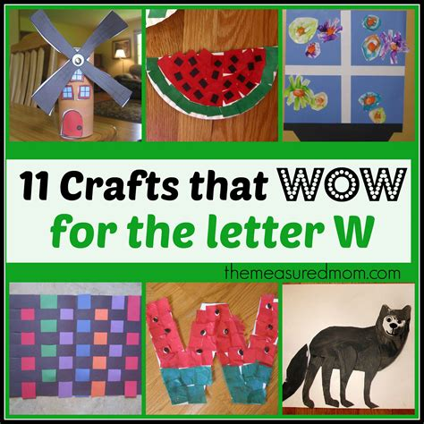 letter w crafts the measured 657 | crafts for letter W the measured mom1