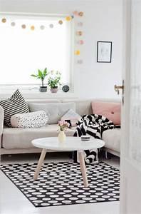 Guirlande Lumineuse Salon : le tapis scandinave s invite dans l int rieur 26 id es nordiques ~ Melissatoandfro.com Idées de Décoration
