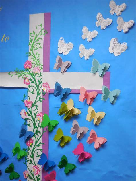 easter butterflies resurrection cross  life spring