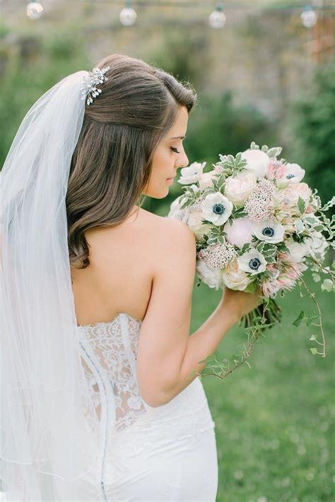 27 gorgeous half up half down wedding hairstyles wedding