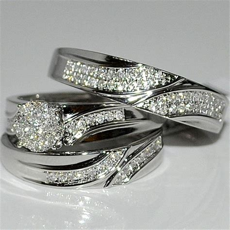 cheap trio wedding ring sets trio wedding ring sets walmart