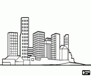 dibujos de edificios faciles  colorear colorear imagenes