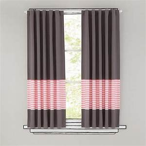 Kids curtains pink stripe grey window curtains the land for Light pink and gray curtains