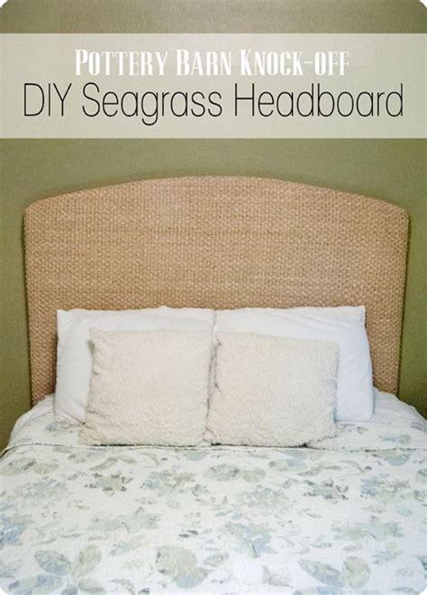 Pottery Barn Seagrass Headboard by Turn A Seagrass Rug Into A Headboard Diy