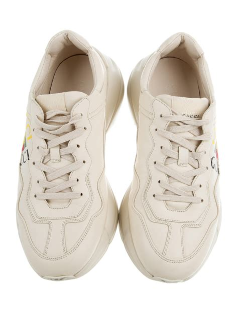 Widest selection of new season & sale only at lyst.co.uk. Gucci Rhyton Logo Leather Sneakers - Shoes - GUC177330 ...