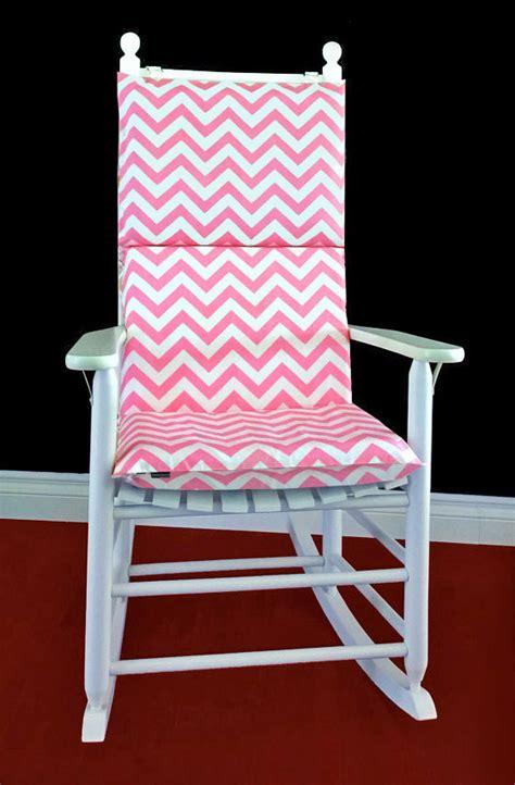 rocking chair cushion cover baby pink chevron