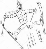 Ski Jump Coloring Illustration Vector Cartoon Poles Clipart Depositphotos Izakowski Pole Suit Crazy Fotosearch Jumping Funny Plus Google 1000 Vectors sketch template