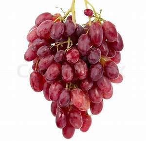 Pink grapes on a white background | Stock Photo | Colourbox