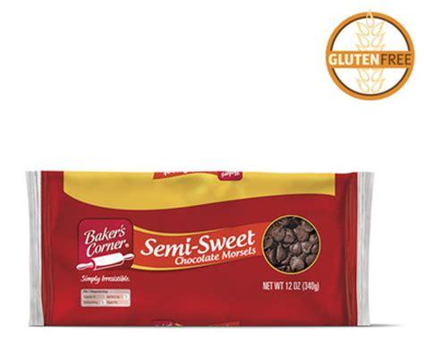 semi sweet chocolate brands aldi us baker s corner semi sweet chocolate morsels