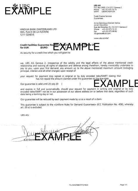 bank guarantee letter what is a bank guarantee trade finance global