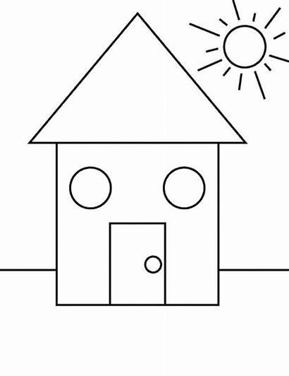 Shapes Coloring Sun Under Shape Pages Netart
