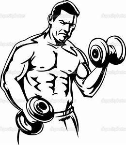 Bodybuilder clipart - Clipground