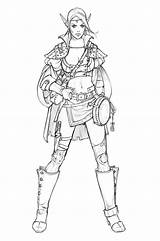 Concept Eva Costume Widermann Elf Behance Character Bard Coloring Pages Designs Characters Fantasy Warrior Via Drawings Elfe Drawing Deviantart Bd sketch template