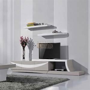 Meuble Tele Moderne : meuble t l vision moderne ch ne peint et laque brillante ~ Teatrodelosmanantiales.com Idées de Décoration