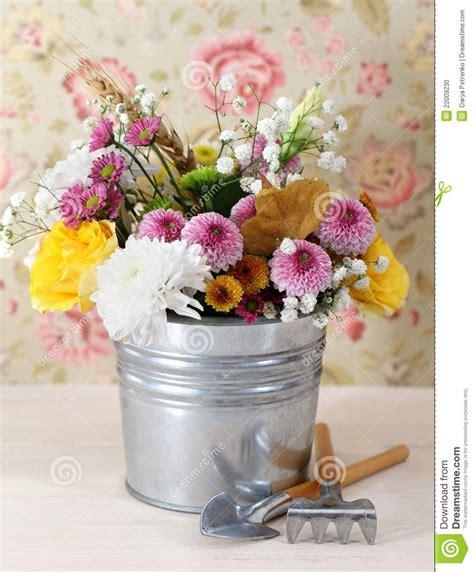 Bouquet De Fleurs D Automne Plante Feuille Verte Et