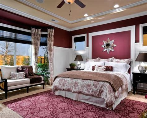 Burgundy Bedroom Home Design Ideas, Pictures, Remodel And