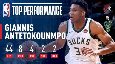 Giannis Antetokounmpo Scores CAREER HIGH 44 Points vs ...