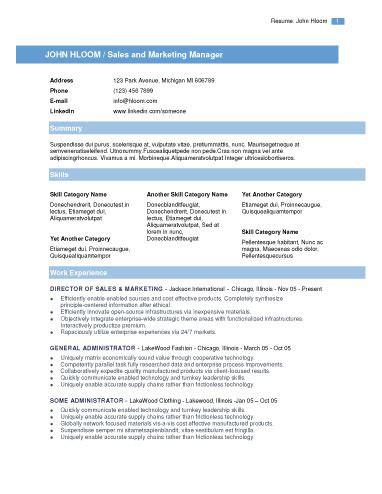 Modern Resume Template Learnhowtoloseweightnet
