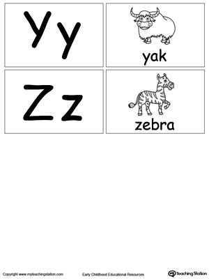 small printable alphabet flash cards  letters