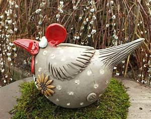 Deko Hühner Für Den Garten : gartenkeramik skulptur huhn gr l vogel henne hahn keramik h hner und vogel ~ Whattoseeinmadrid.com Haus und Dekorationen
