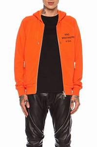 Dsquaredu00b2 Mens Penitentiary Zip Hoodie in Orange | Lyst