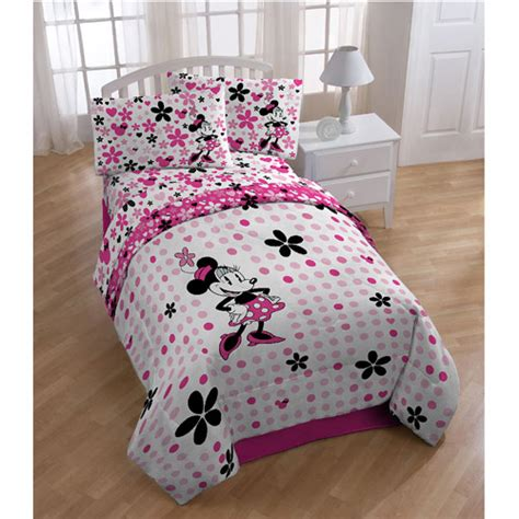 disney minnie mouse twin full reversible comforter