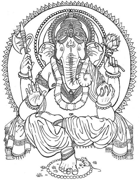 Ganesha Paintings For Coloring | lord ganesh Colouring