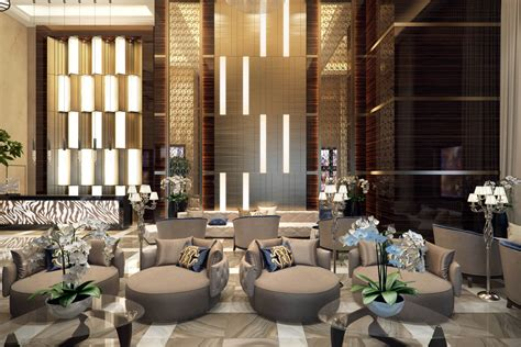 Commercial Interior Design Rendering Elegant Luxury