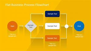 Flat Business Process Flowchart For Powerpoint